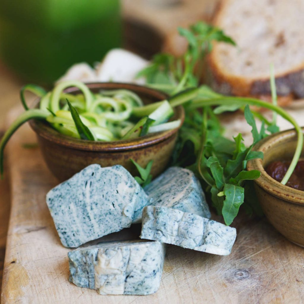 Vegan blue cheese at Beetroot Sauvage, Edinburgh
