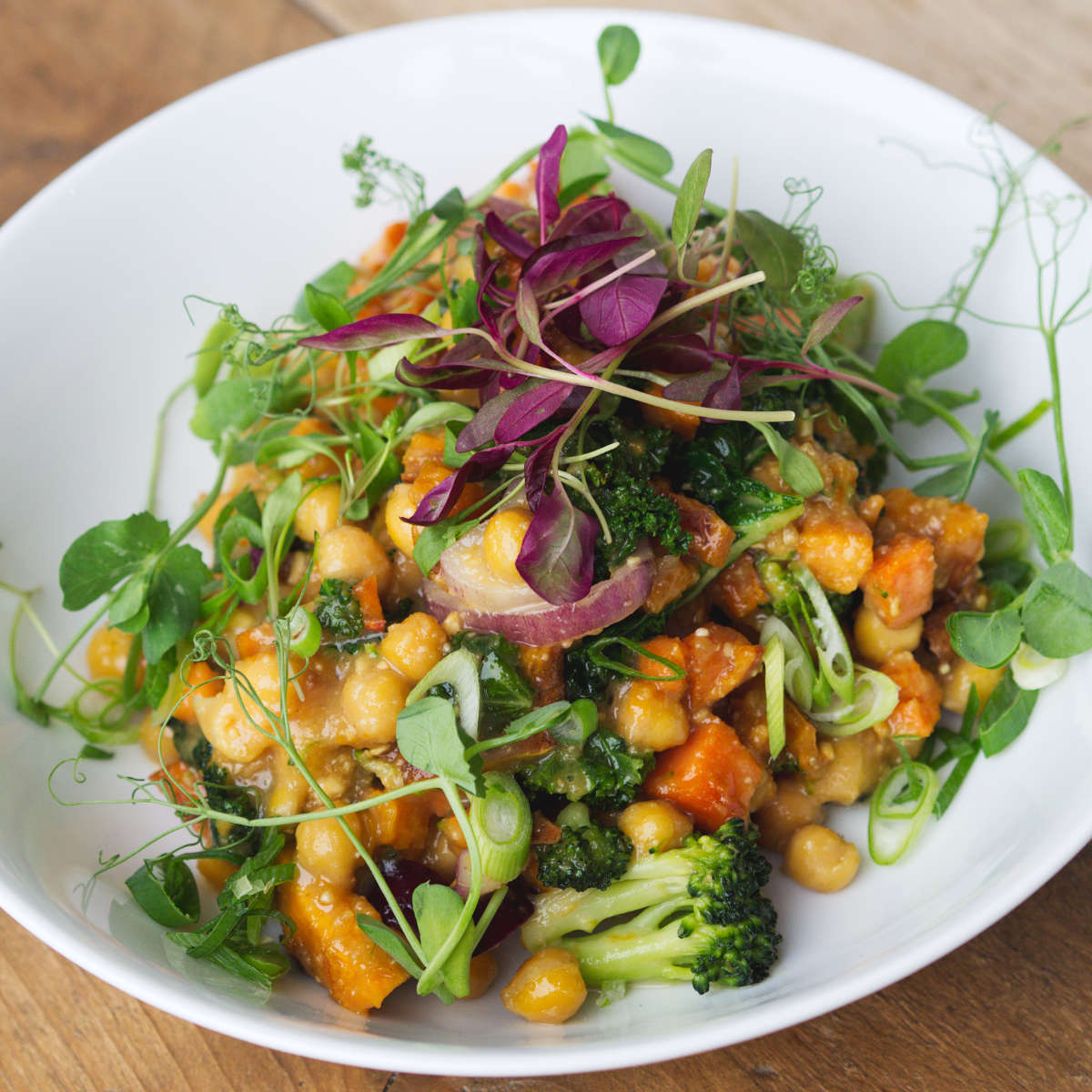 Vegan chickpea bowl at Kcal Kitchen, Edinburgh