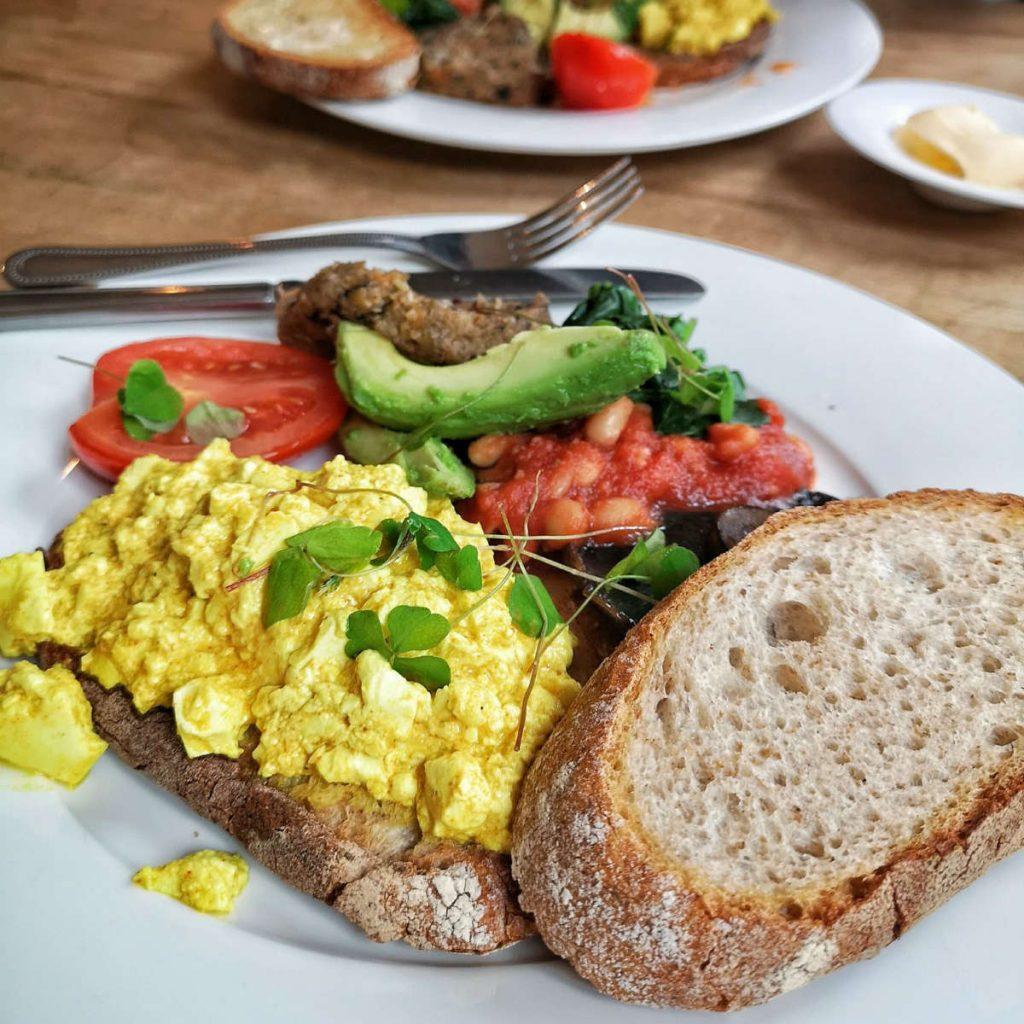 Vegan breakfast at Beetroot Sauvage, Edinburgh