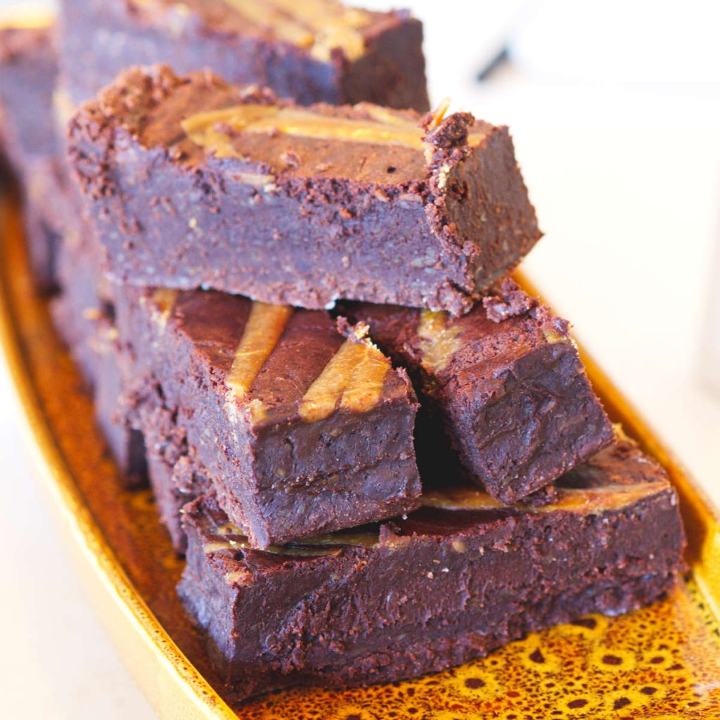 Vegan brownies by Herbivore Kitchen at Gogo Beets, Edinburgh