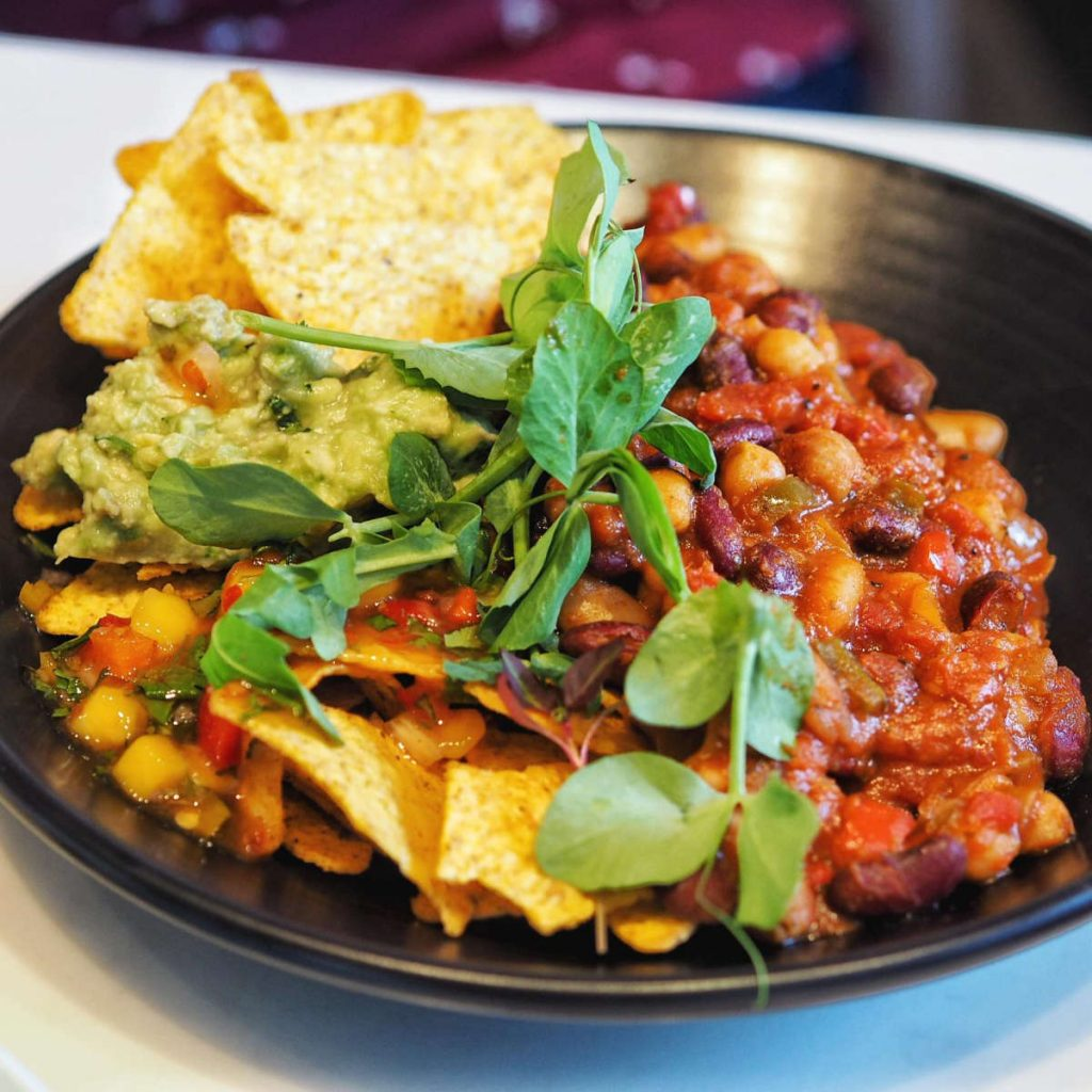 Vegan chilli at Mimi's Bakehouse, Edinburgh