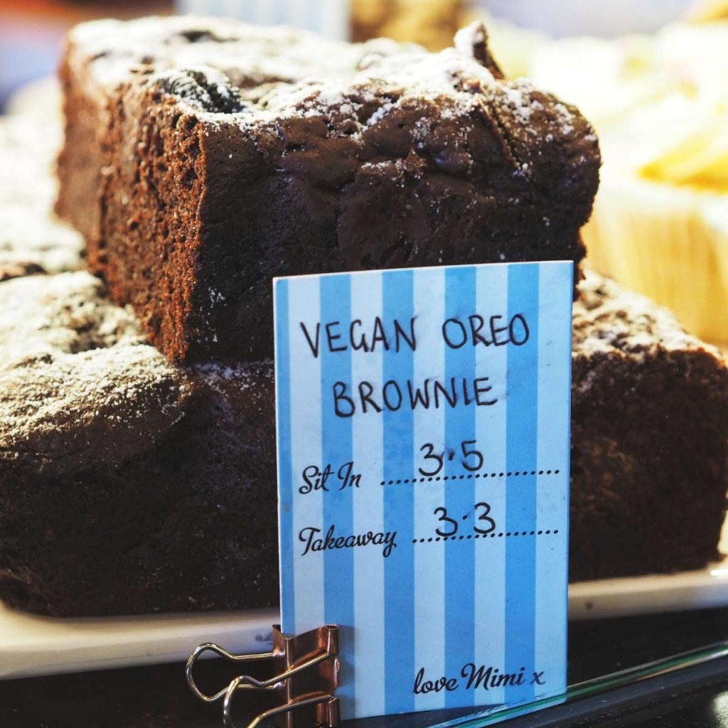 Vegan oreo brownies at Mimi's Bakehouse, Edinburgh