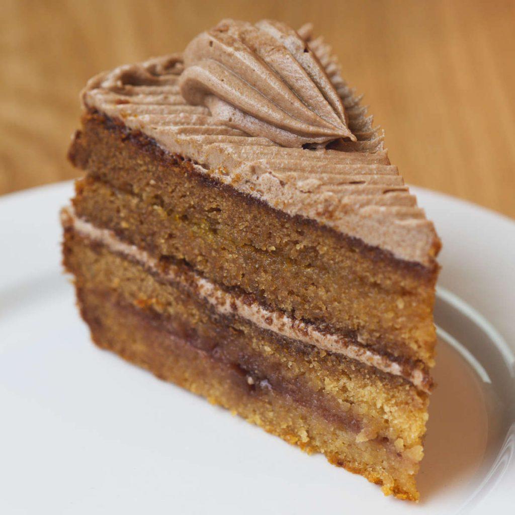 Vegan cake at Loudons Edinburgh