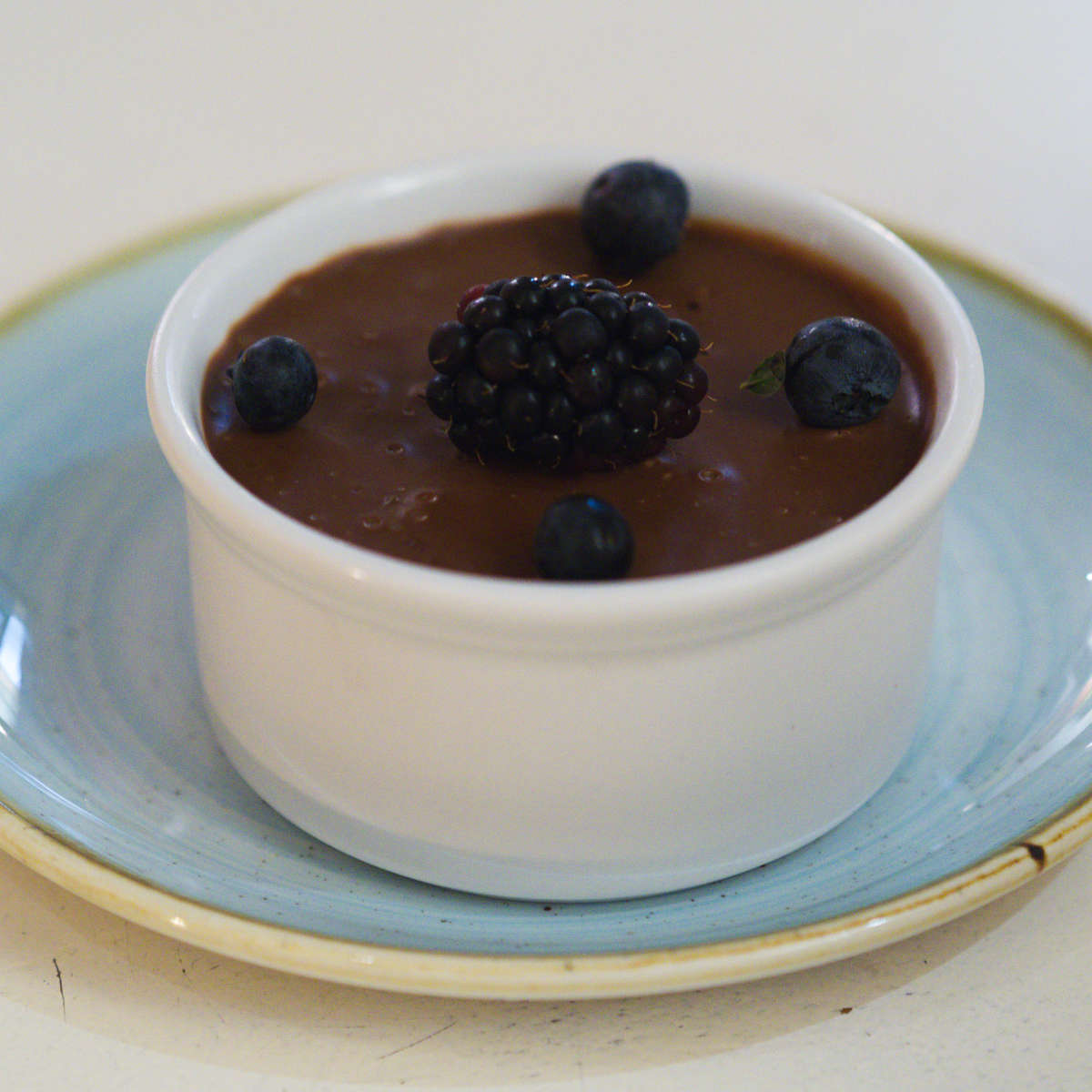 Vegan chocolate mousse at Hendersons Edinburgh