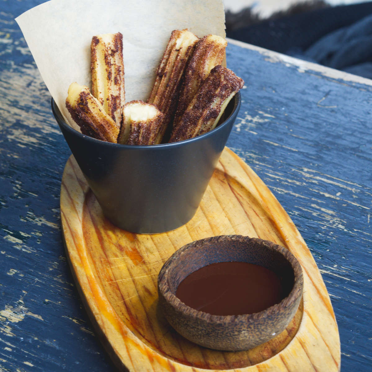 Vegan churros at Ransacked Black Oven, Edinburgh