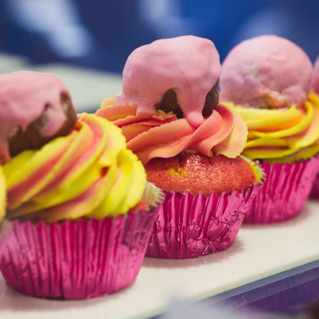 Vegan custard cupcakes at Naked Bakery, Edinburgh