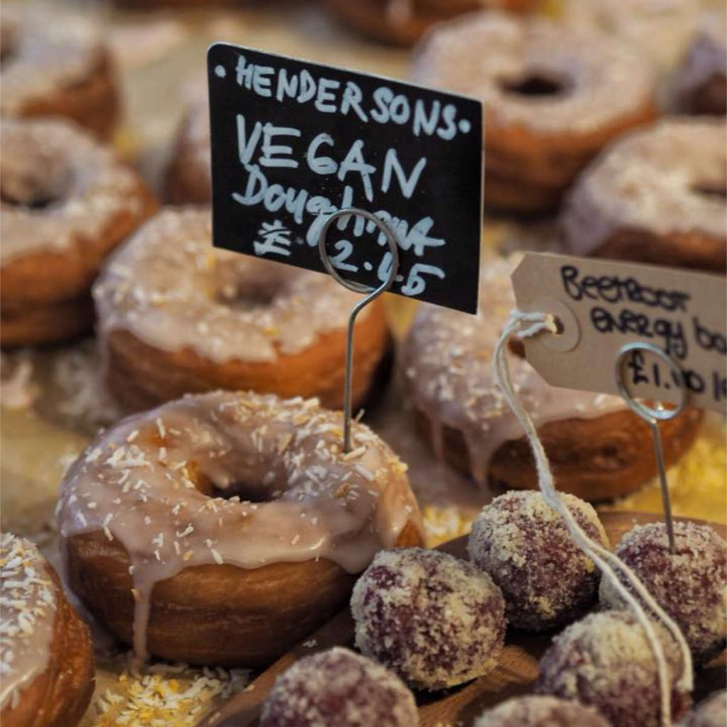 Vegan doughnuts at Hendersons Edinburgh