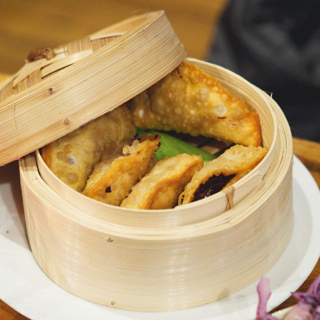 Vegan dumplings at Ooh! Mami
