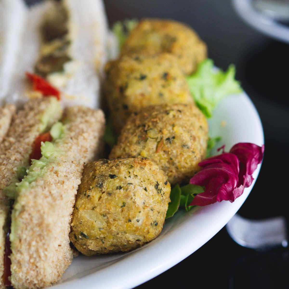 Vegan falafel at Mimi's Bakehouse, Edinburgh