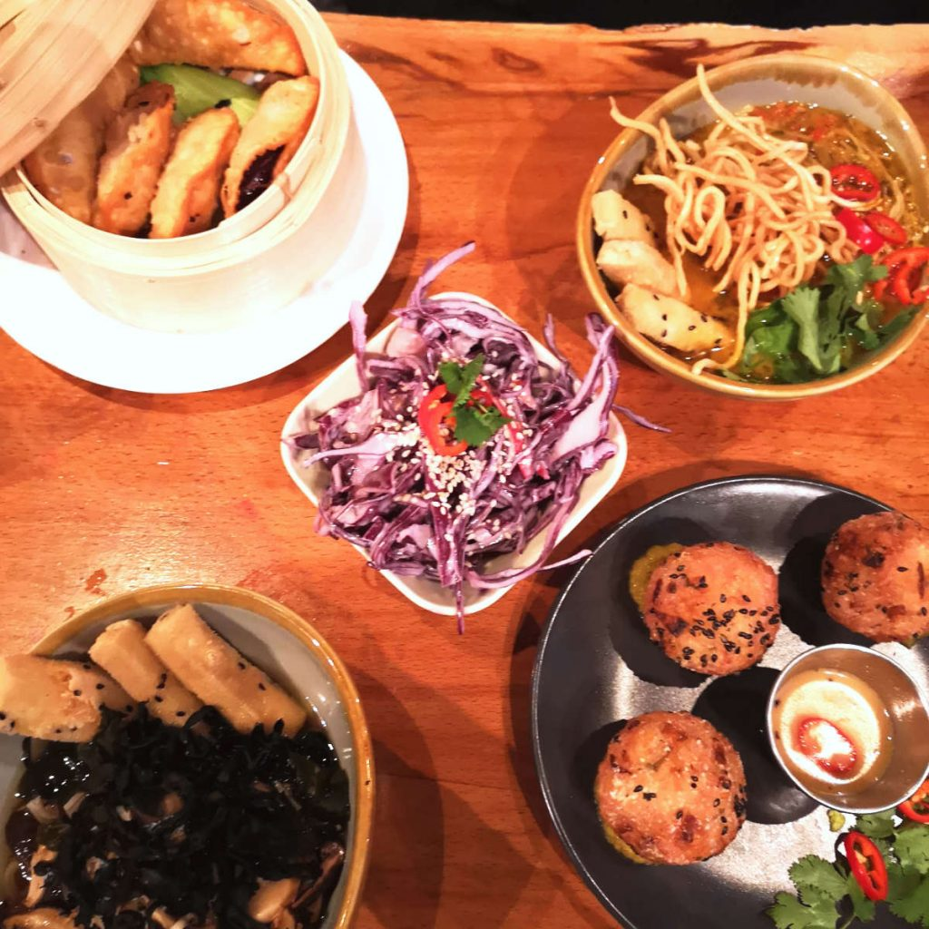 Vegan food at Ooh! Mami Edinburgh