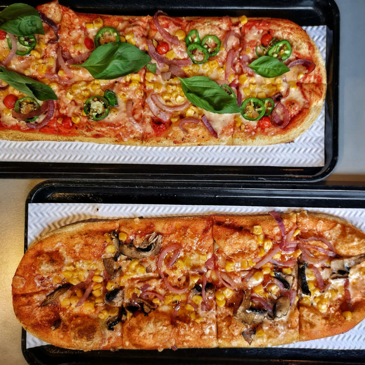 Vegan pizza at @pizza, Edinburgh
