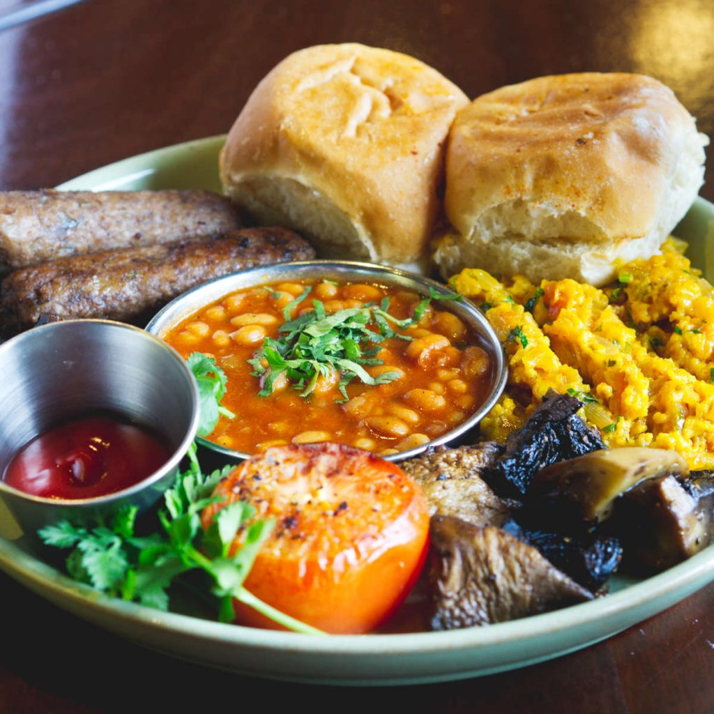 Vegan full breakfast at Dishoom, Edinburgh