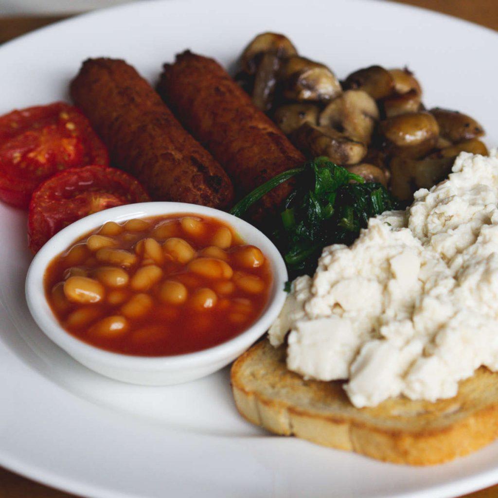 Full vegan breakfast at Leith Depot, Edinburgh