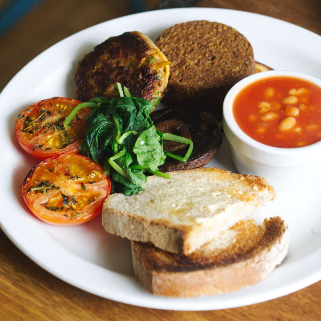 Full vegan breakfast at Water of Leith Cafe Bistro, Edinburgh