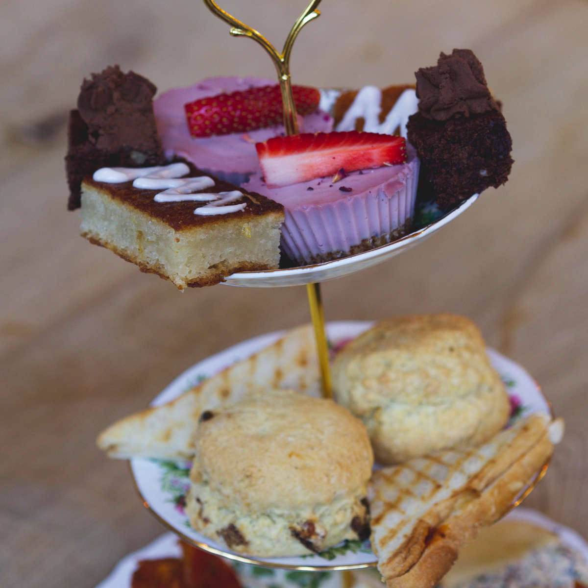 Vegan afternoon tea at Beetroot Sauvage, Edinburgh