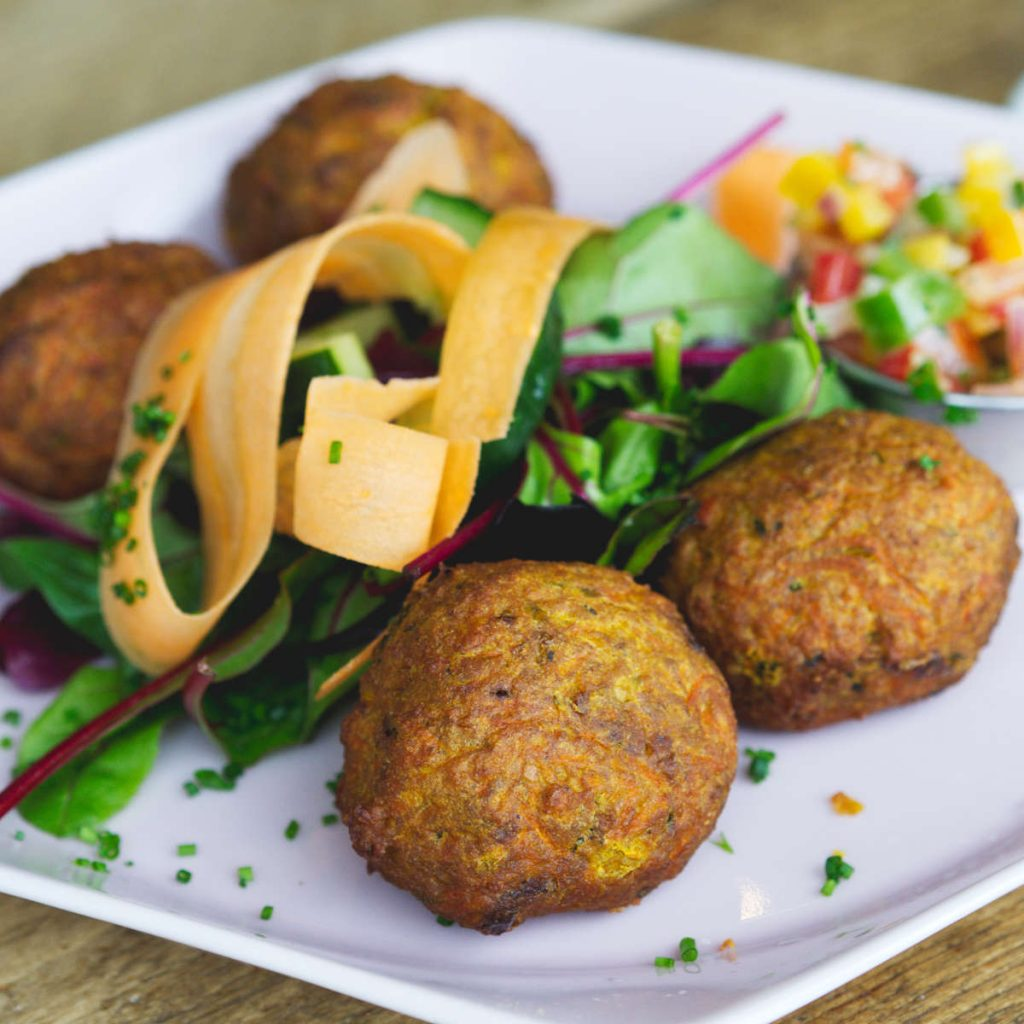 Vegan pakora at Kcal Kitchen Edinburgh