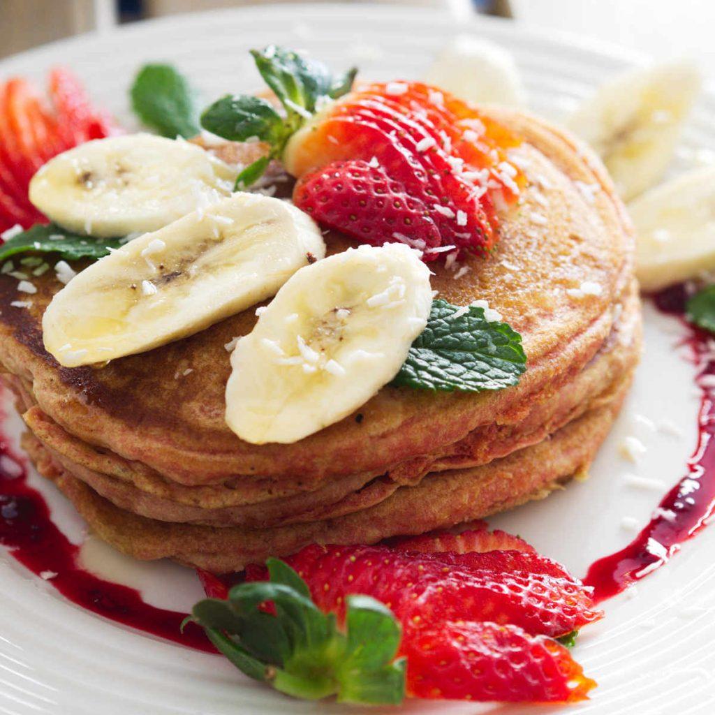 Vegan pancakes at Seeds for the Soul, Edinburgh