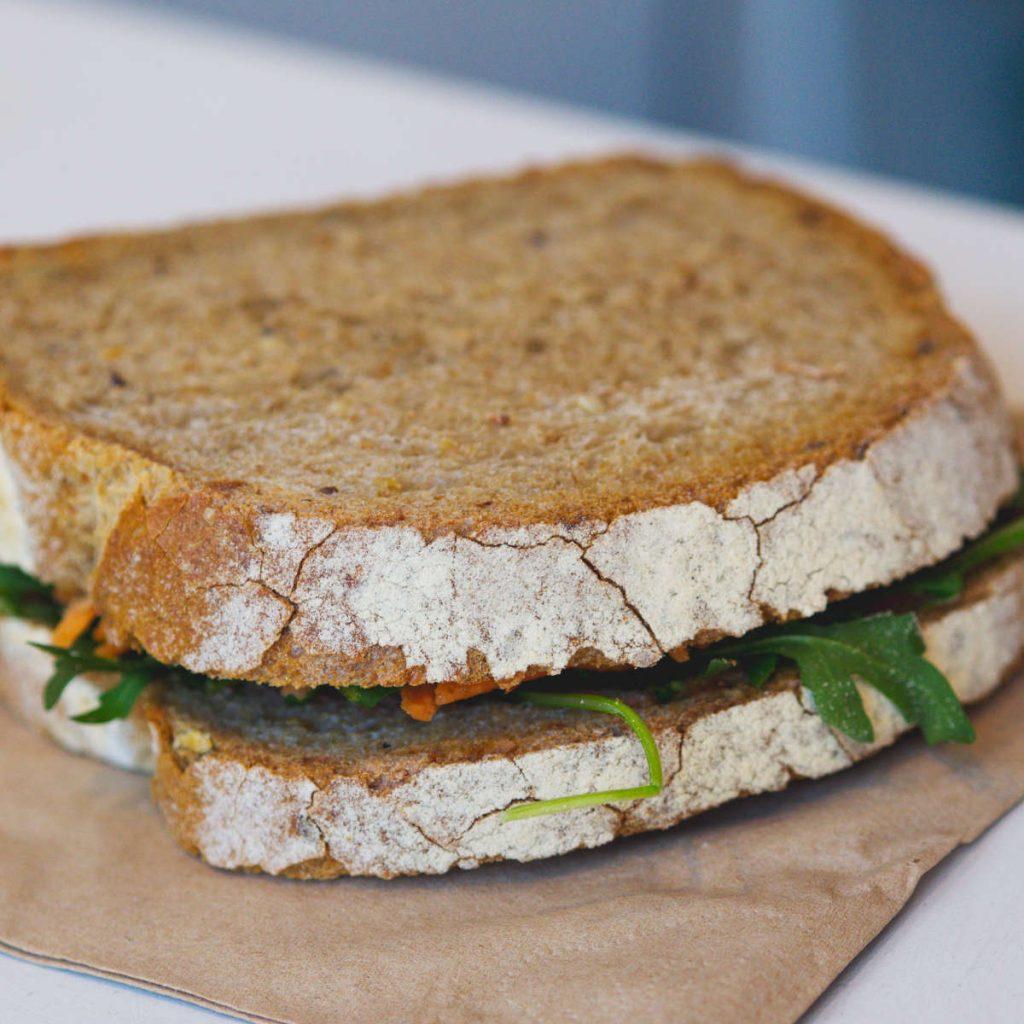 Vegan sandwich at Gogo Beets, Edinburgh