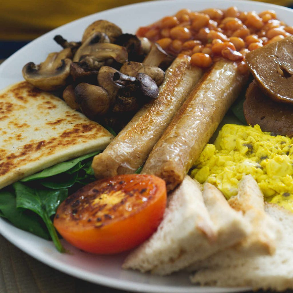 Vegan full breakfast at Seeds for the Soul, Edinburgh