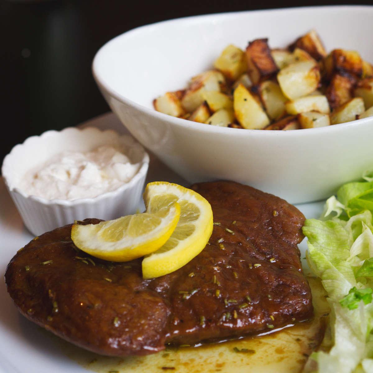Vegan seitan steak at Novapizza, Edinburgh