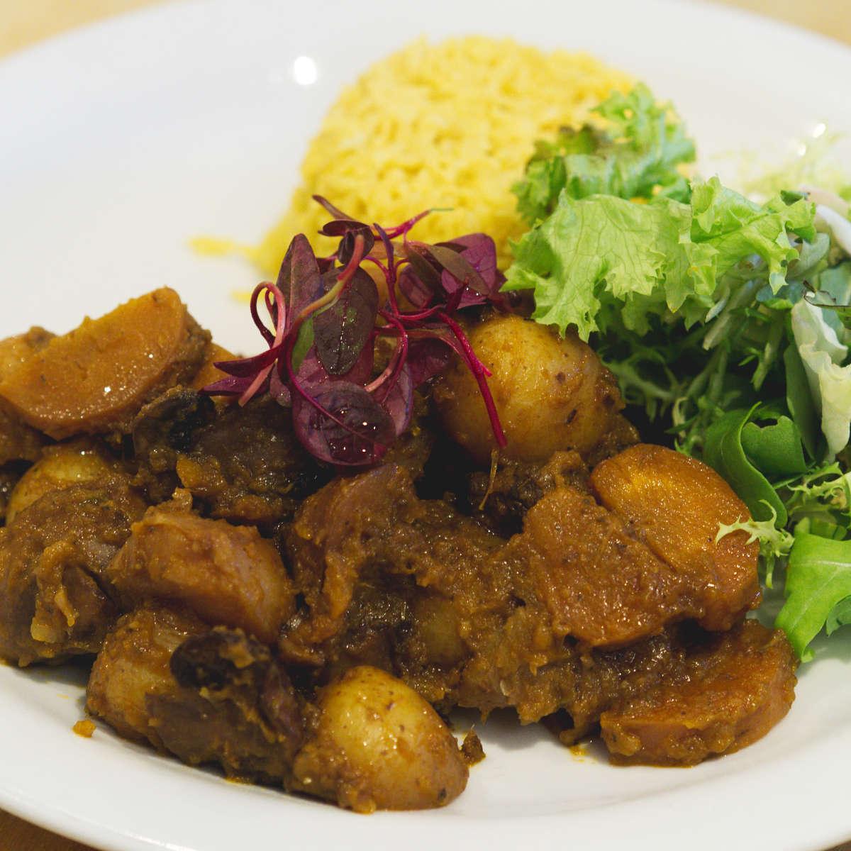 Vegan potato and mushroom stew at Hendersons Edinburgh