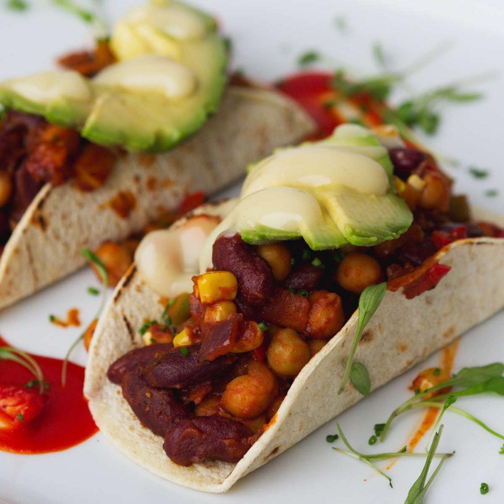 Vegan tacos at Kcal Kitchen, Edinburgh