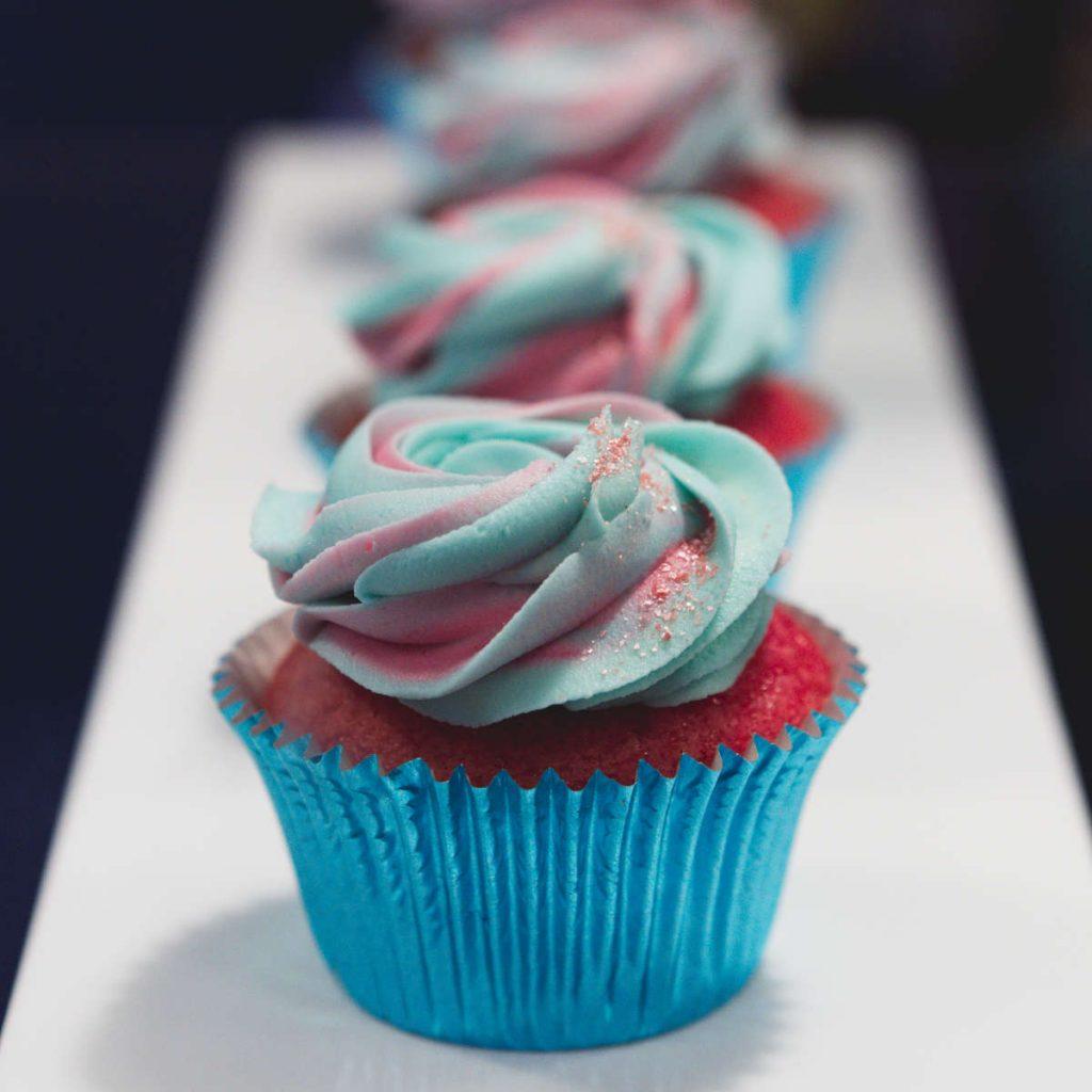 Vegan vanilla cupcakes at Naked Bakery, Edinburgh