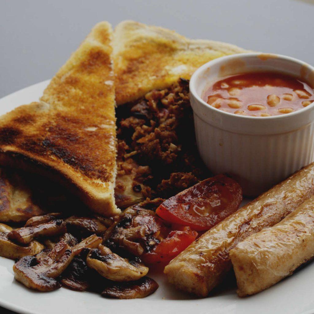 Full vegan breakfast at BBL, Edinburgh