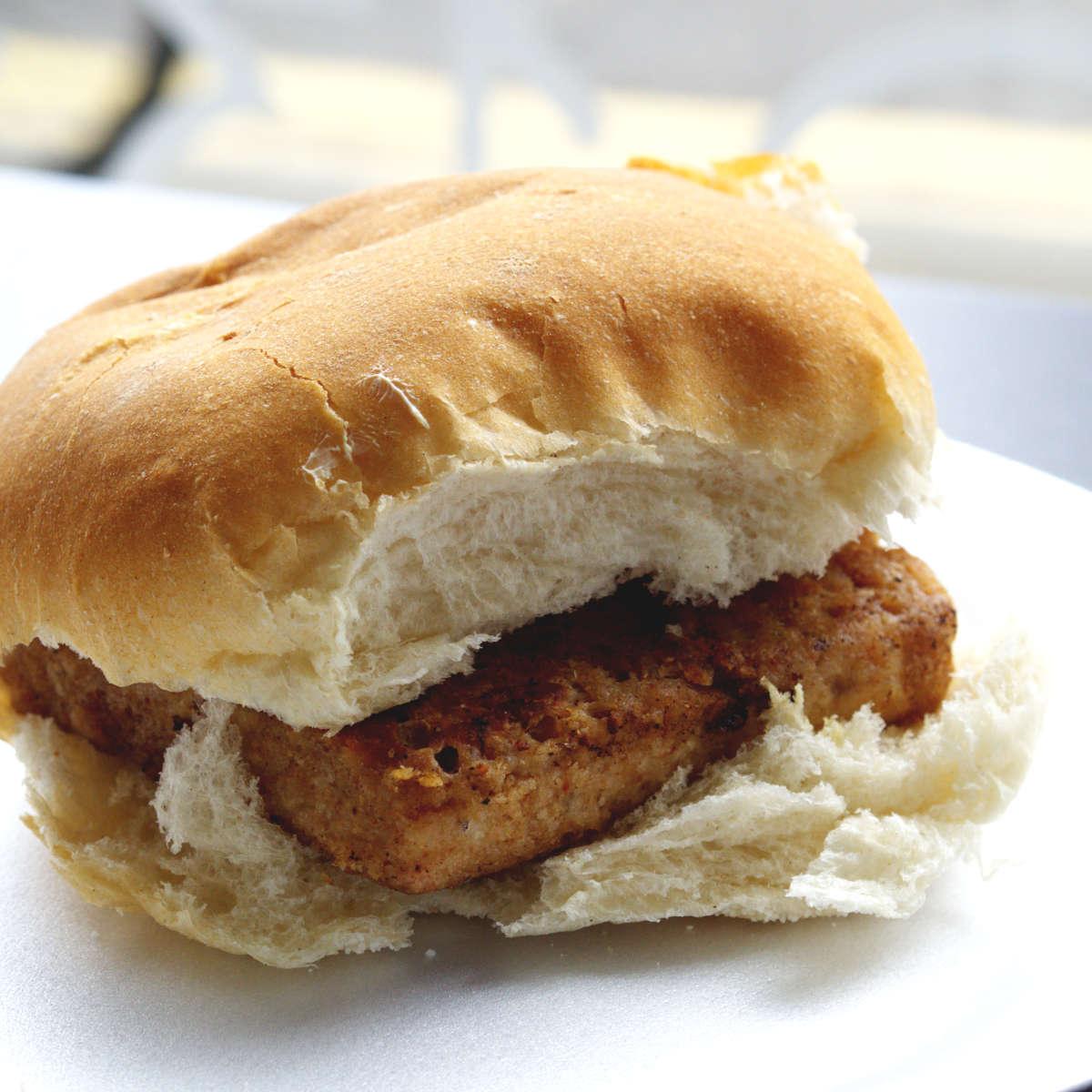 Vegan lorne sausage roll at BBL, Edinburgh