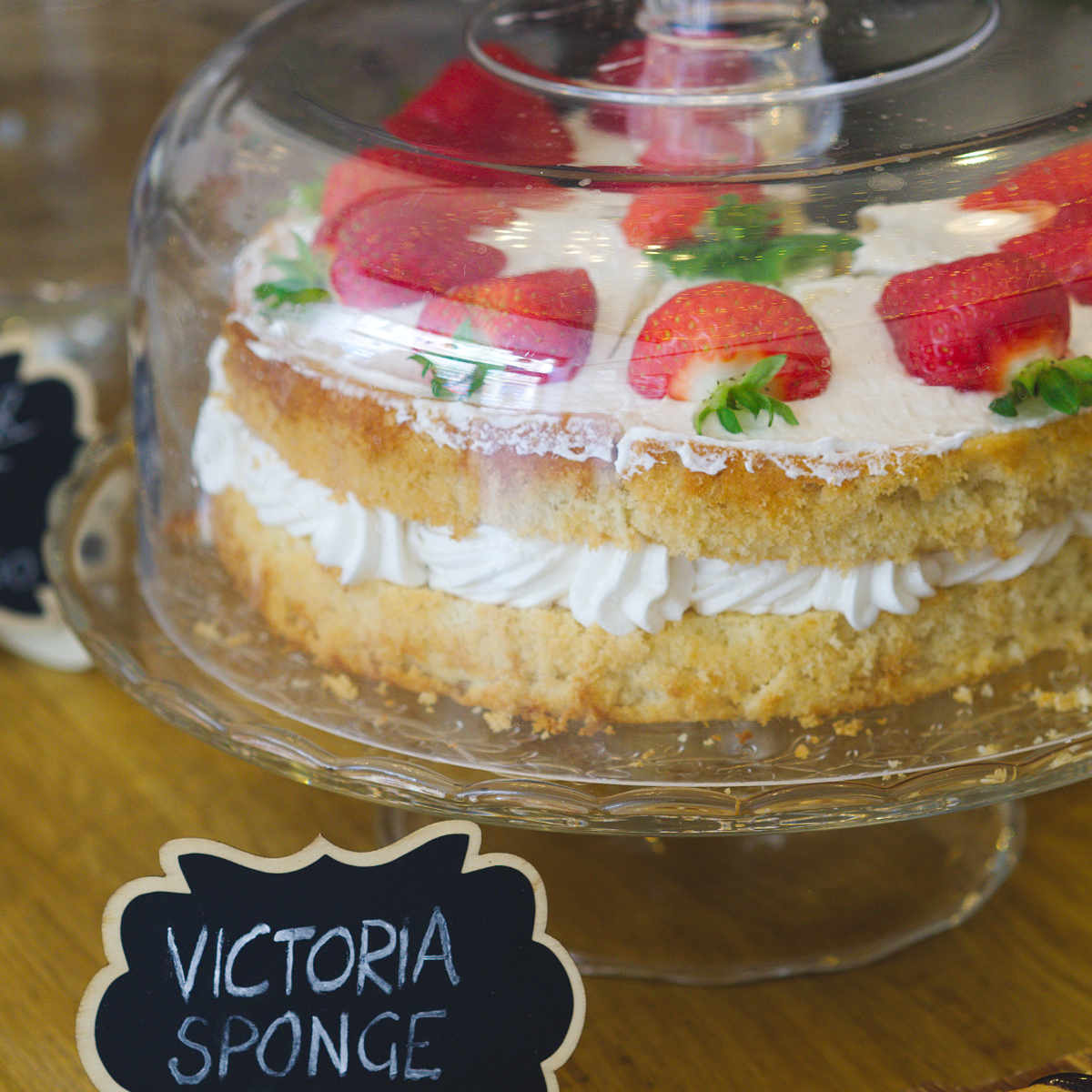 Vegan victoria sponge at Seeds for the Soul, Edinburgh