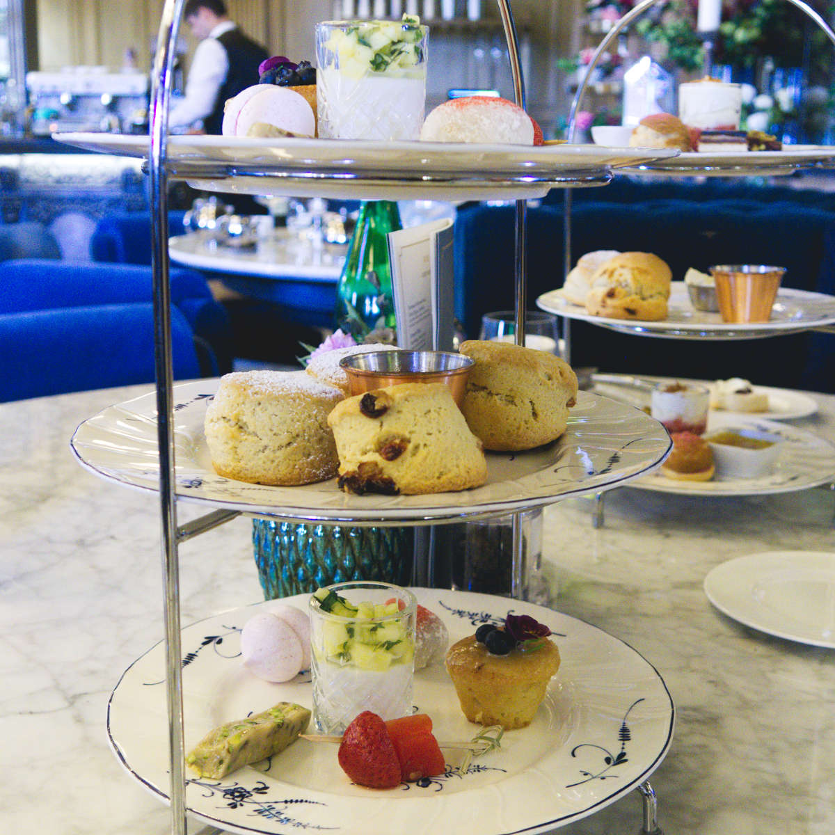 Vegan afternoon tea at The Grand Cafe, Edinburgh