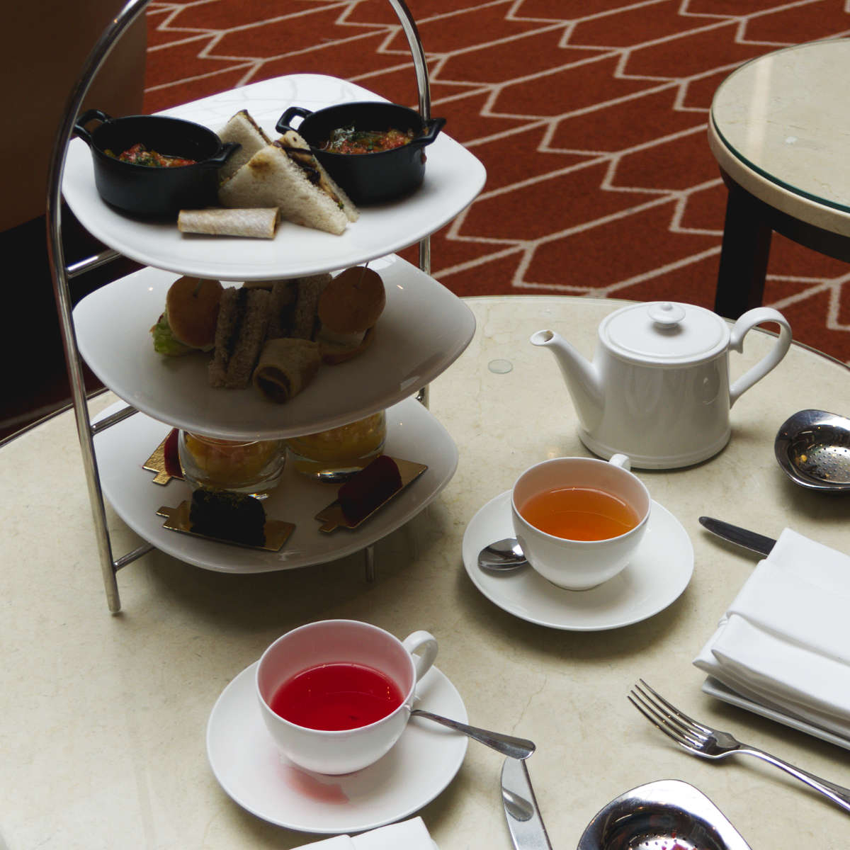 Vegan afternoon tea at The Waldorf Astoria, Edinburgh