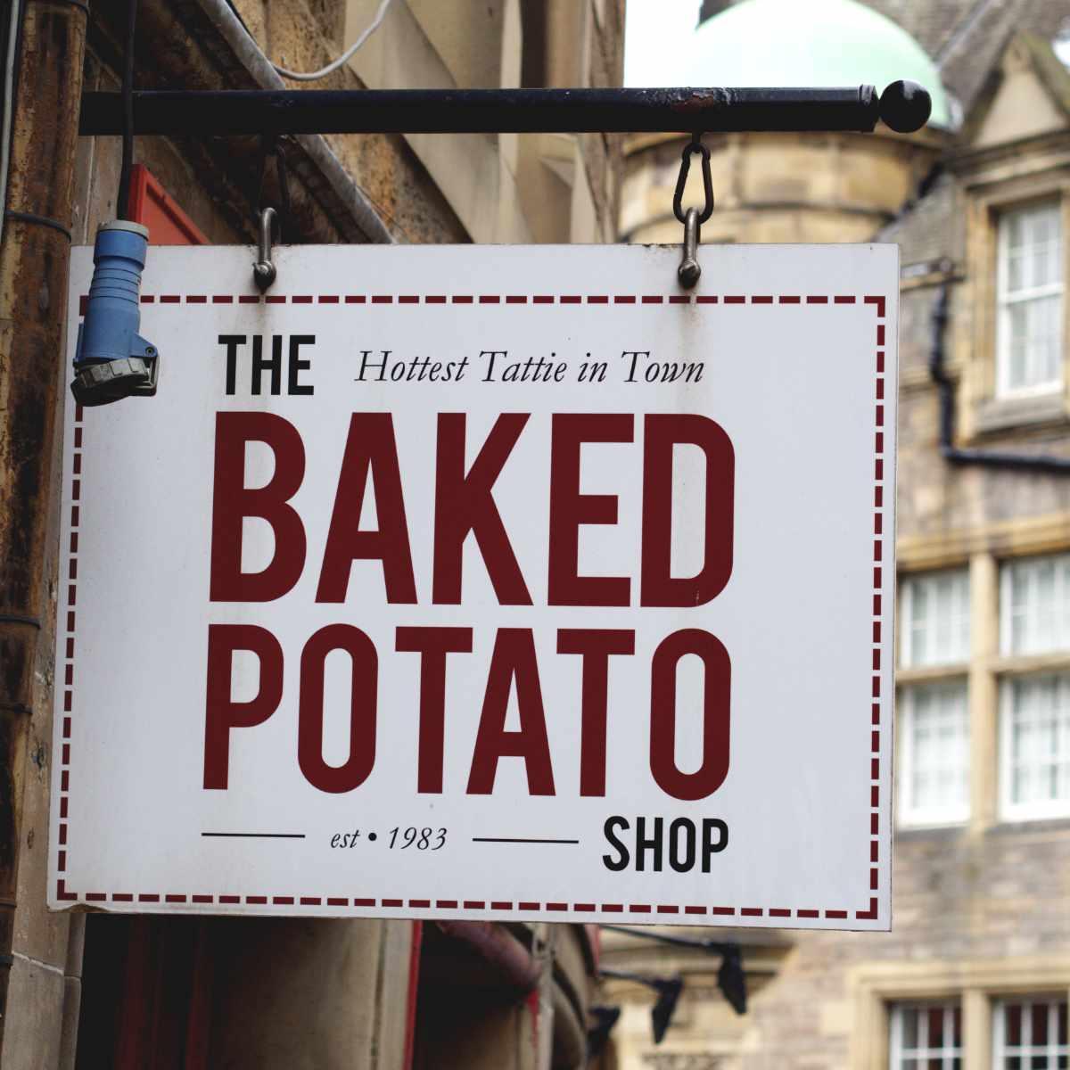 Baked Potato Shop Sign
