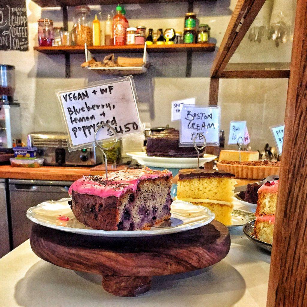 Vegan cake Lovecrumbs, Edinburgh
