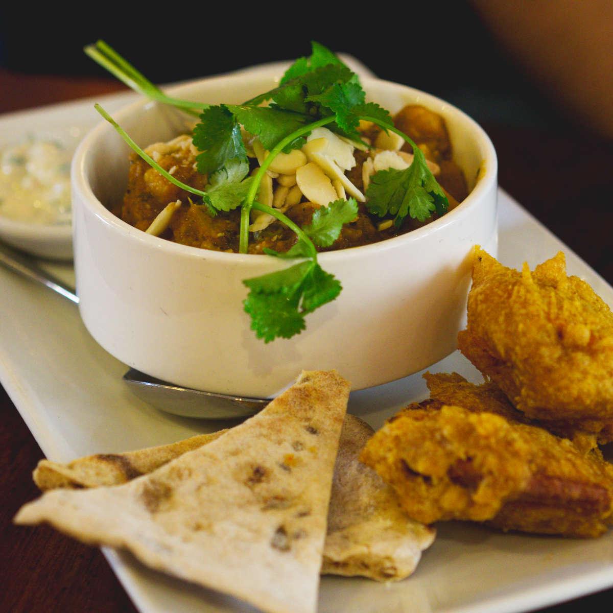 Vegan curry at David Bann, Edinburgh