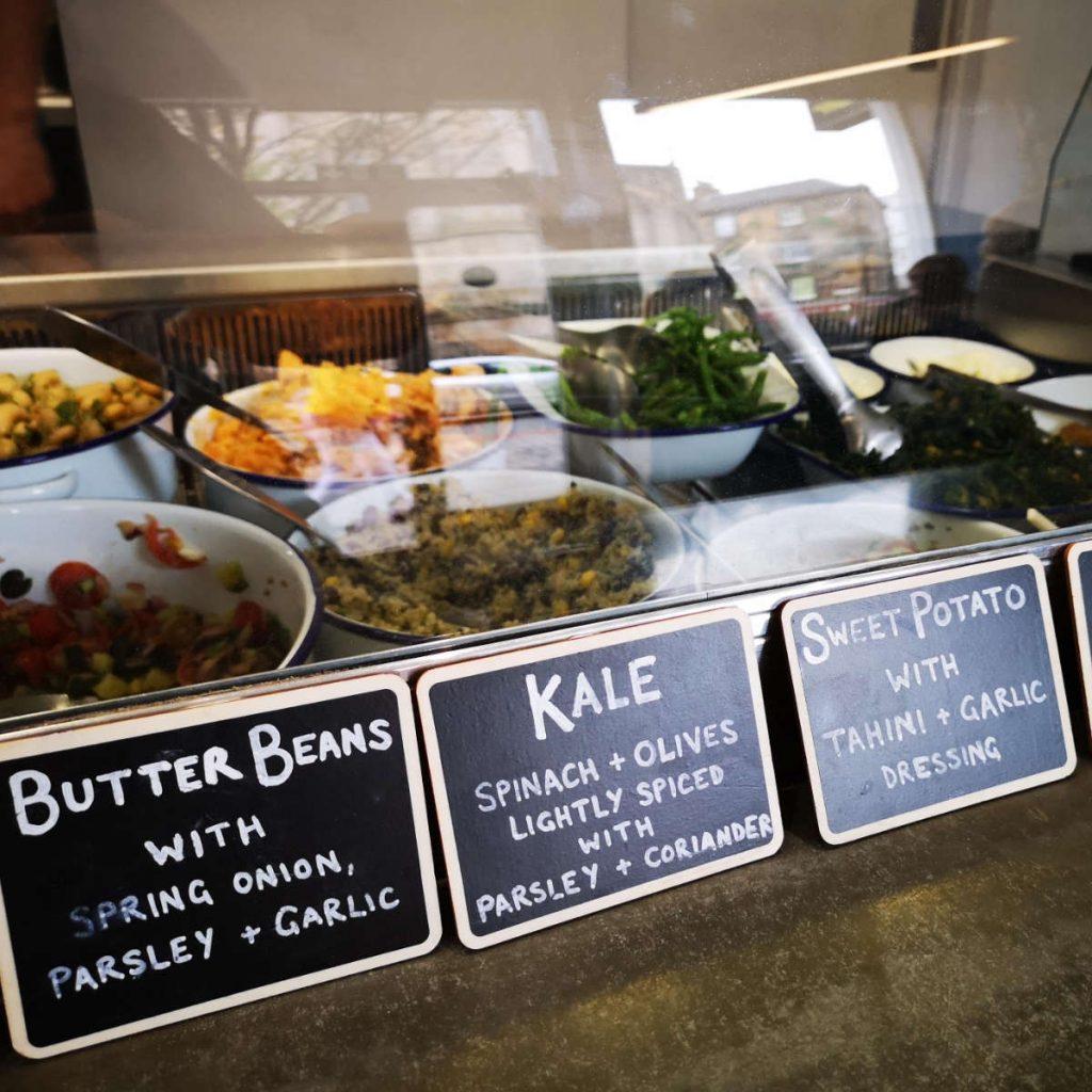 Salad display at Bowls Edinburgh