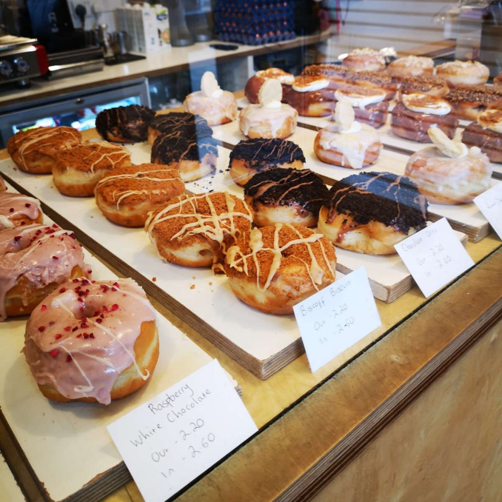 Doughnut display at Considerit, Edinburgh