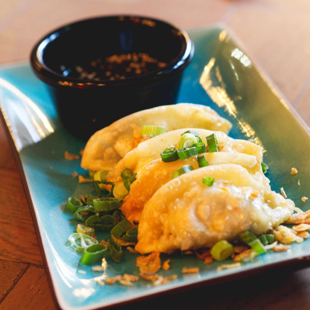 Vegan dumplings at Bar Soba, Edinburgh