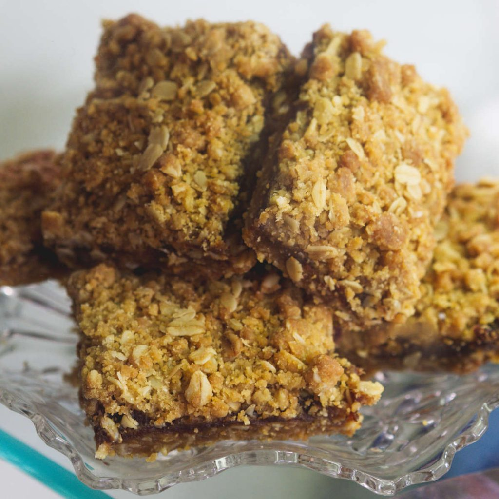 Vegan flapjacks at Pavilion Cafe Edinburgh