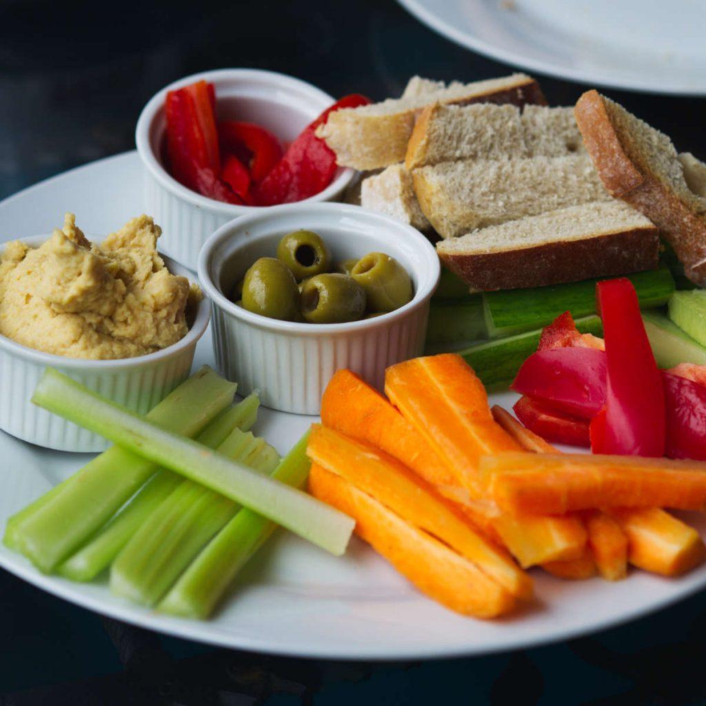 Vegan grazing plate at Santosa Cafe Edinburgh