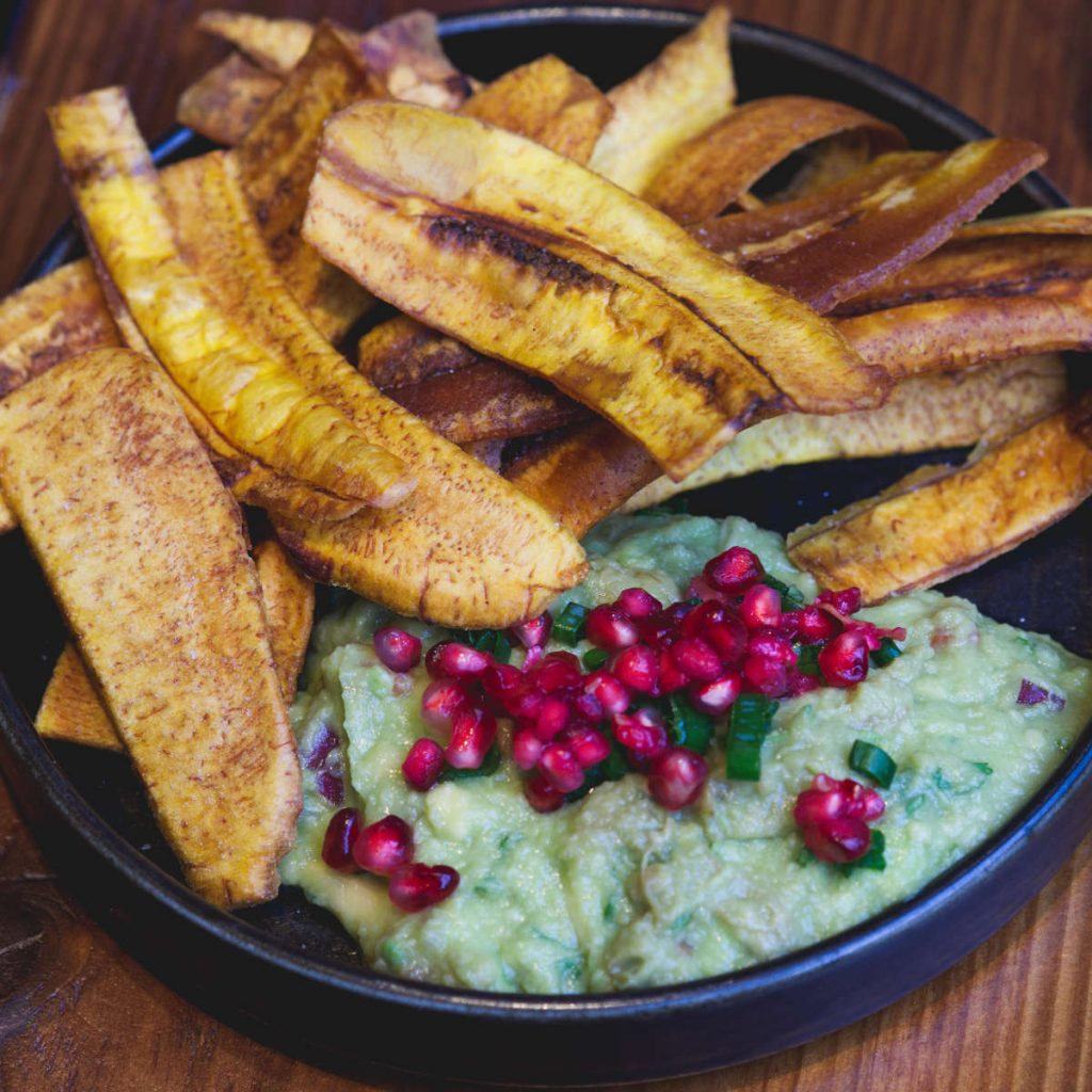 Vegan plantain and guacamole at El Cartel, Edinburgh