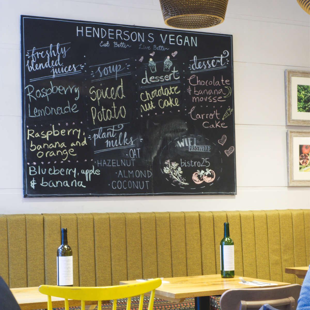 Inside Hendersons Vegan, Edinburgh