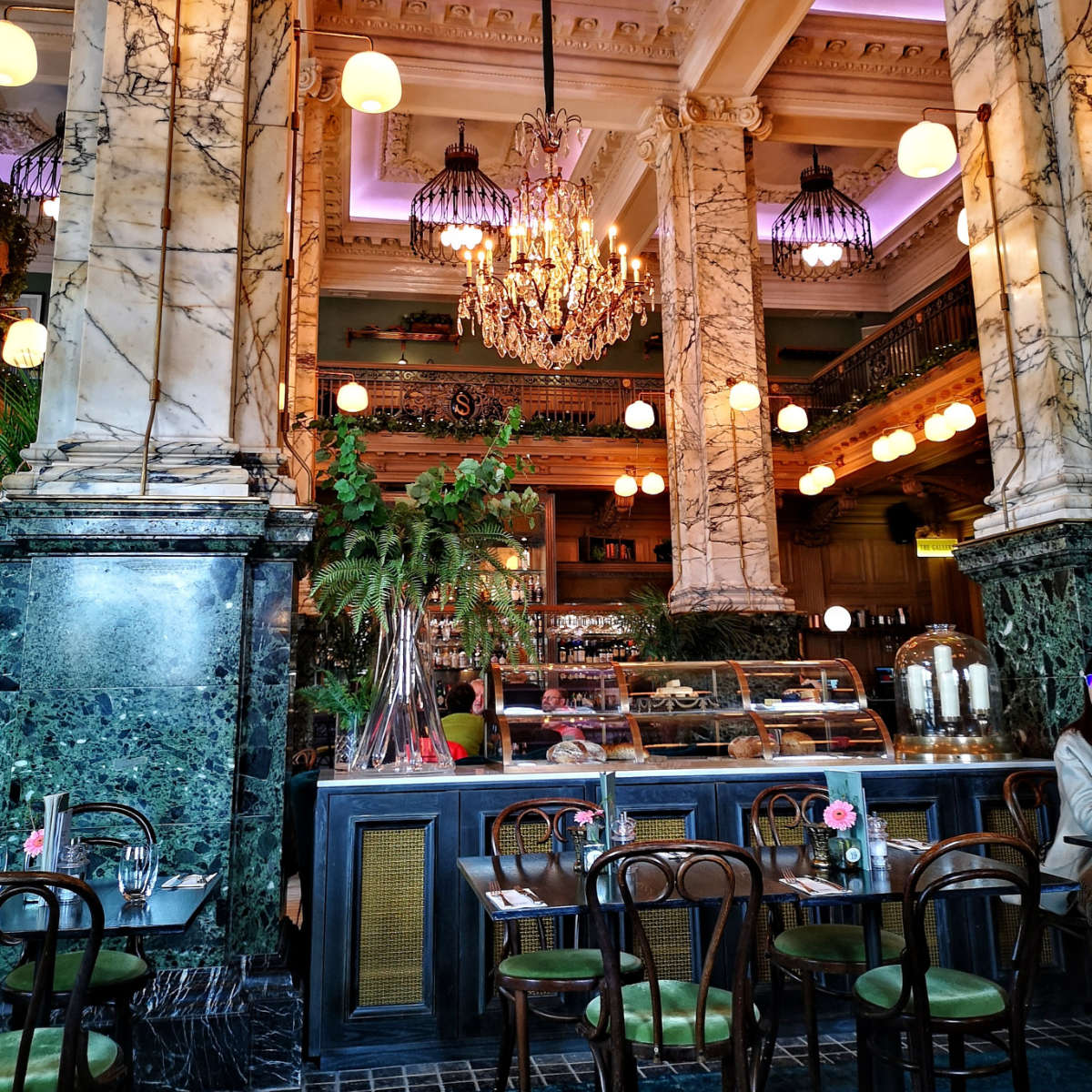 Inside the Grand Cafe, Edinburgh
