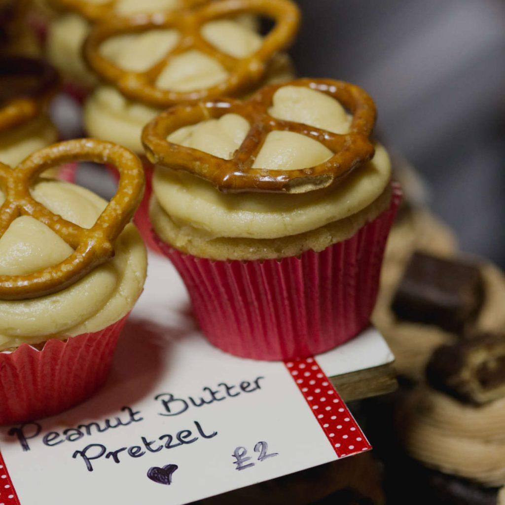 Vegan peanut butter pretzel cupcakes by Missys Vegan Cupcakes