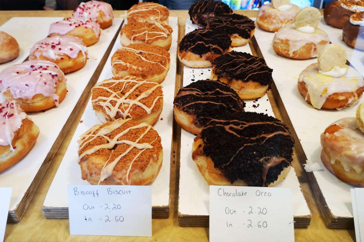 Doughnut display at Considerit, Edinburgh
