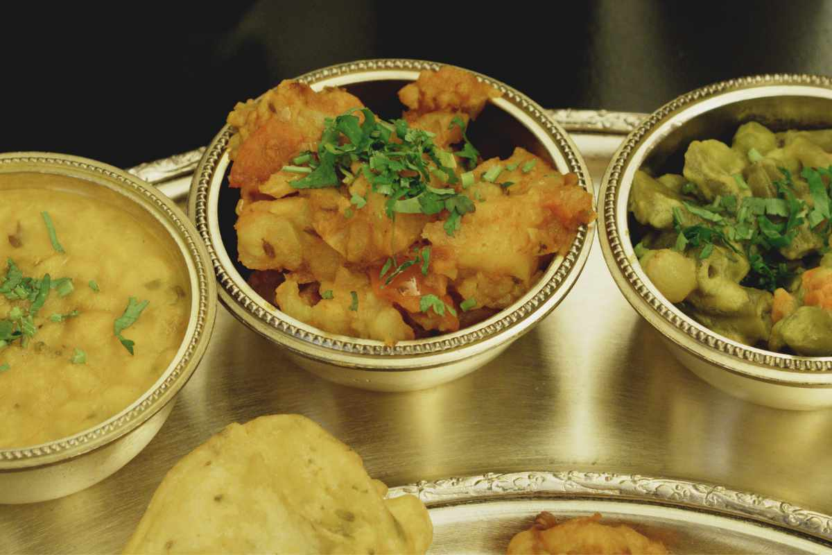 Vegan thali at Kalpna, Edinburgh