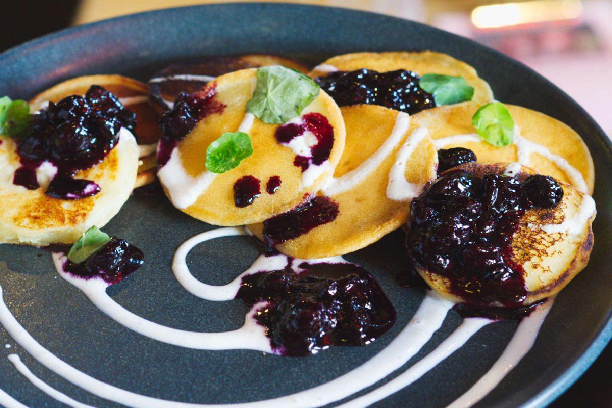 Vegan pancakes at Paradise Palms, Edinburgh