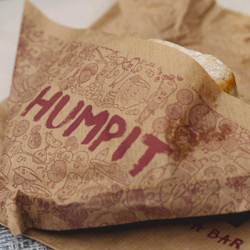 Greasy packaging at Humpit Hummus, Edinburgh