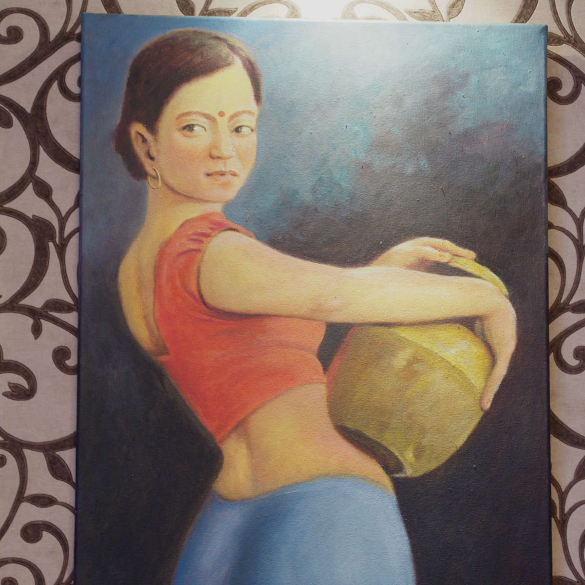 Picture of a lady holding a water butt at Annakut, Edinburgh
