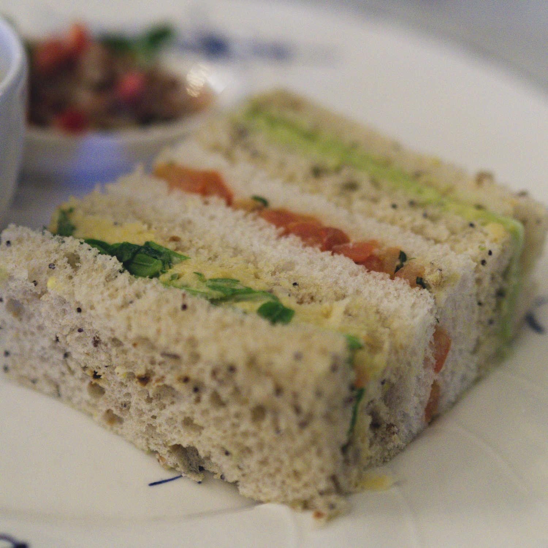 Vegan finger sandwiches at The Grand Cafe, Edinburgh